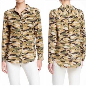 Equipment Silk Camo blouse XS